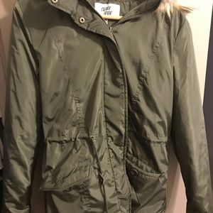 Outer edge army green parka